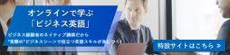 オンラインで学ぶ「ビジネス英語」ビジネス経験者のネイティブ講師だから実際のビジネスシーンで役立つ英語スキルが身につく!